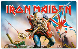 IRON MAIDEN PLANCHE A DECOUPER TROOPER
