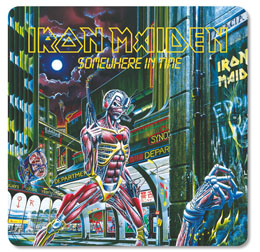PACK DE 6 SOUS VERRES IRON MAIDEN SOMEWHERE IN TIME