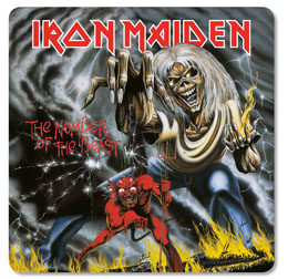 PACK DE 6 SOUS VERRES IRON MAIDEN THE NUMBER OF THE BEAST