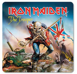 PACK DE 6 SOUS VERRES IRON MAIDEN THE TROOPER