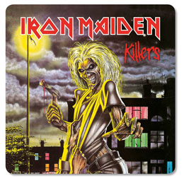 PACK DE 6 SOUS VERRES IRON MAIDEN KILLERS