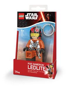 PORTE CLE LEGO STAR WARS MINI LAMPE DE POCHE AVEC CHAINETTE POE DAMERON