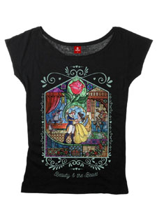 LA BELLE ET LA BETE T-SHIRT FEMME WINDOW GIRL
