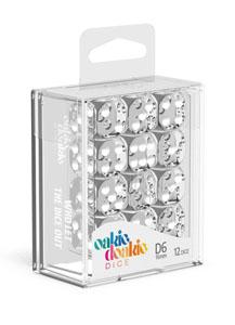 Oakie Doakie Dice dés D6 16 mm Translucent - Transparent (12)
