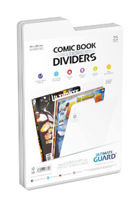 Ultimate Guard 25 intercalaires pour Comics Premium Comic Book Dividers Blanc