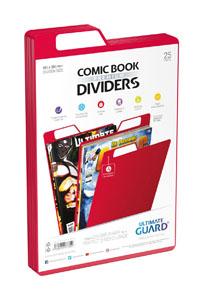 Ultimate Guard 25 intercalaires pour Comics Premium Comic Book Dividers Rouge
