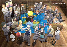 ASSASSINATION CLASSROOM DÉCORATION MURALE KORO WITH CLASS 3-E 140 X 200 CM