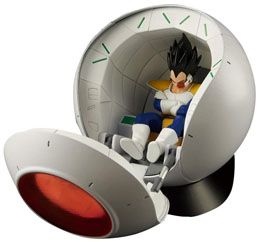 Photo du produit FIGURINE SAIYAN SPACE POD DRAGON BALL Z 25CM Photo 1
