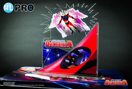 UFO ROBOT GRENDIZER DIORAMA ACRYLIQUE DUKE FLEED TRANSFORMATION 15 CM