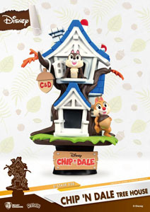DISNEY SUMMER SERIES DIORAMA PVC D-STAGE CHIP 'N DALE TREE HOUSE