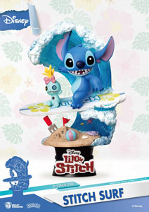 DISNEY SUMMER SERIES DIORAMA PVC D-STAGE STITCH SURF 15 CM