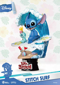 Photo du produit DISNEY SUMMER SERIES DIORAMA PVC D-STAGE STITCH SURF 15 CM Photo 1