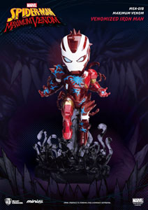 MARVEL MAXIMUM VENOM COLLECTION FIGURINE MINI EGG ATTACK VENOMIZED IRON MAN 14 CM