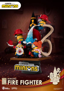 Photo du produit MINIONS DIORAMA PVC D-STAGE FIRE FIGHTER 15 CM Photo 2
