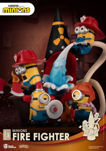 Photo du produit MINIONS DIORAMA PVC D-STAGE FIRE FIGHTER 15 CM Photo 4