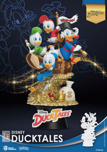DISNEY BEAST KINGDOM CLASSIC ANIMATION SERIES DIORAMA PVC D-STAGE DUCKTALES 15 CM