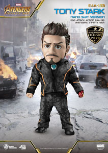 AVENGERS INFINITY WAR EGG ATTACK FIGURINE TONY STARK NANO SUIT VER. BEAST KINGDOM EXCLUSIVE 16 CM