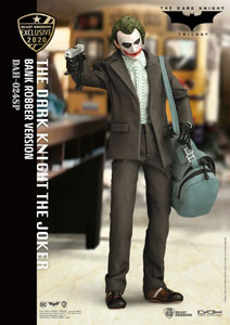BATMAN THE DARK KNIGHT FIGURINE DYNAMIC ACTION HEROES 1/9 THE JOKER BANK ROBBER VER. 21 CM