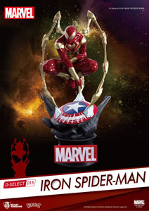 MARVEL DIORAMA PVC D-SELECT IRON SPIDER-MAN 16 CM