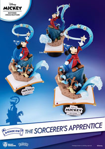 Photo du produit MICKEY BEYOND IMAGINATION DIORAMA PVC D-STAGE THE SORCERER'S APPRENTICE Photo 1