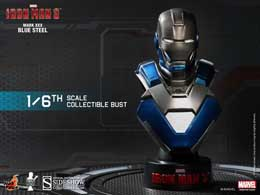 BUSTE IRON MAN BLUE STEEL MARK 30 HOT TOYS