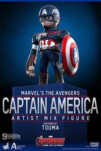 HOT TOYS FIGURINE ARTIST MIX CAPTAIN AMERICA AVENGERS AGE OF ULTRON