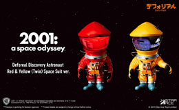 2001, L'ODYSSÉE DE L'ESPACE FIGURINES ARTIST DEFO-REAL SERIES DF ASTRONAUT RED & YELLOW V