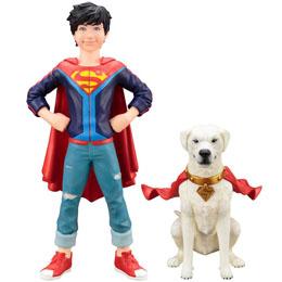 DC COMICS PACK 2 STATUETTES 1/10 PVC ARTFX+ SUPER SONS JONATHAN KENT & KRYPTO