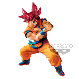 DRAGON BALL GT STATUETTE PVC BLOOD OF SAIYANS SUPER SAIYAN GOD SON GOKU 17 CM