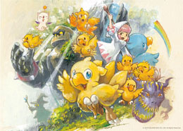 Photo du produit Final Fantasy puzzle Chocobo Party Up! (1000 pièces) Photo 1