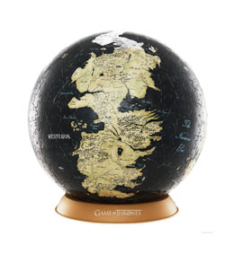 LE TRONE DE FER PUZZLE 3D GLOBE UNKNOWN WORLD (80 PIECES)