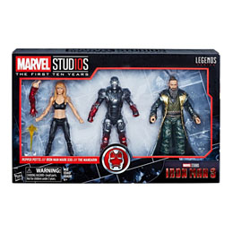 IRON MAN 3 MARVEL LEGENDS SERIES PACK 3 FIGURINES PEPPER, MARK XXII & MANDARIN 15 CM
