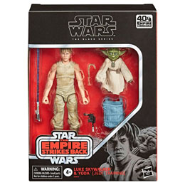 COFFRET STAR WARS L'EMPIRE CONTRE ATTAQUE 2 FIGURINES LUKE ET YODA