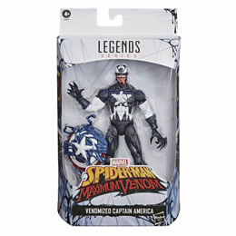 FIGURINE HASBRO CAPTAIN AMERICA VENOMIZED SPIDERMAN MAXIMUM VENOM 18CM