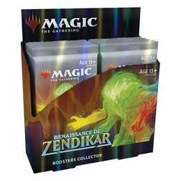 PRÉSENTOIR CONTENANT 12 BOOSTERS DE 16 CARTES MAGIC THE GATHERING RENAISSANCE DE ZENDIKAR BOOSTERS COLL