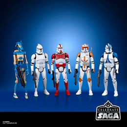 COFFRET 5 FIGURINES GALACTIC REPUBLIC STAR WARS CELEBRATE THE SAGA