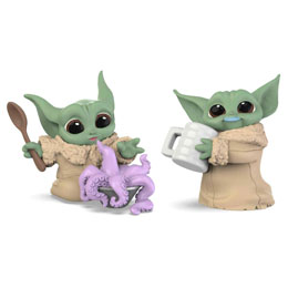 PACK 2 FIGURINES YODA THE CHILD THE MANDALORIAN STAR WARS