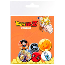6 BADGES SYMBOLS DRAGON BALL Z