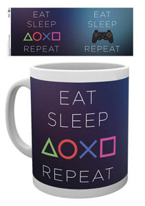 SONY PLAYSTATION MUG EAT SLEEP REPEAT