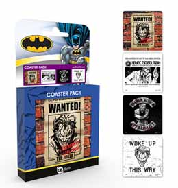 COFFRET DE 4 SOUS VERRES DC COMICS THE JOKER
