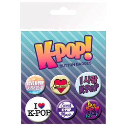 6 BADGES MIX K-POP