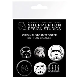 6 BADGES STAR WARS STORMTROOPER