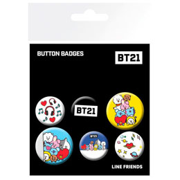 6 BADGES BT21