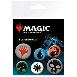 6 BADGES SYMBOLS MAGIC THE GATHERING MANA