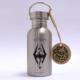 THE ELDER SCROLLS V SKYRIM BOUTEILLE METAL DRAGON SYMBOL