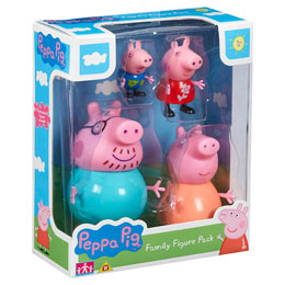 COFFRET 4 FIGURINES PEPPA PIG