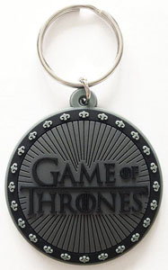 GAME OF THRONES PORTE-CLÉS CAOUTCHOUC LOGO 6 CM