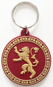 GAME OF THRONES PORTE-CLÉS CAOUTCHOUC LANNISTER 6 CM