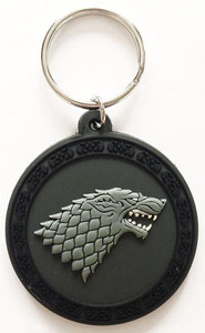 GAME OF THRONES PORTE-CLÉS CAOUTCHOUC STARK 6 CM