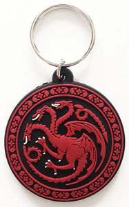 GAME OF THRONES PORTE-CLÉS CAOUTCHOUC TARGARYEN 6 CM